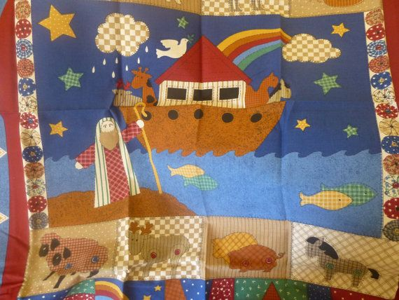 Noah S Ark Baby Quilt Panel And Backing Fabrics Babies