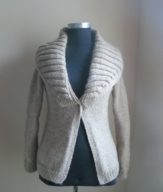 Black Arel Cardigan  Custom colors by sweetknitting on Etsy, $105.00