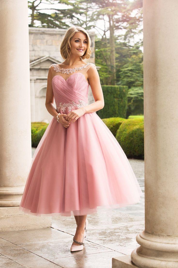Wedding Dresses & Bridesmaids | True Bride | M566 | Tea length ...