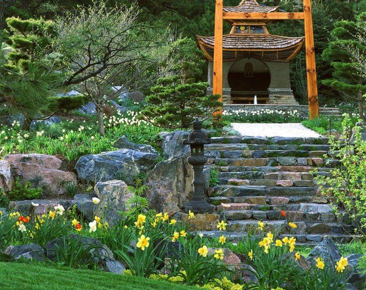 Les 25 meilleures id es de la cat gorie caract ristiques de jardin sur pinterest design jardin for Idee creation jardin japonais