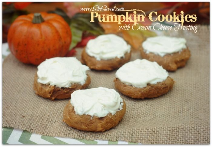 Easy Pumpkin Cookie Recipe with Cream Cheese Frosting - SheSaved®