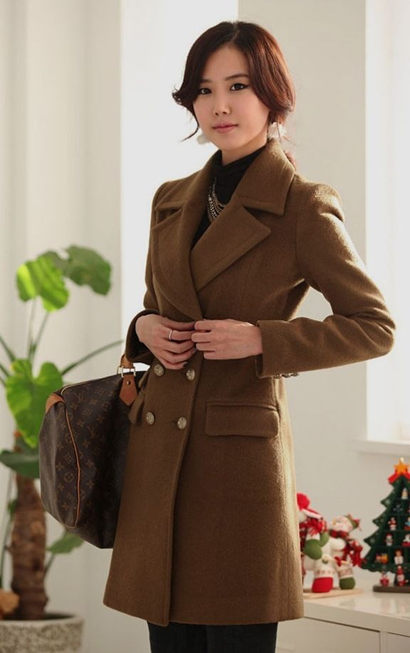 Brown Wool Coat Ladies | Fashion Women's Coat 2017