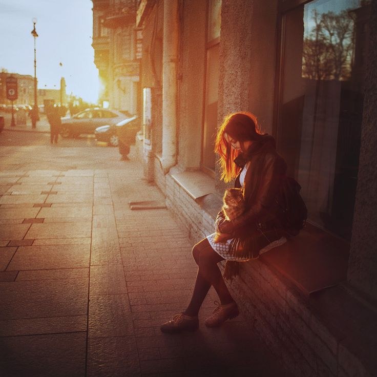 The warm story by Daniil Kontorovich #girl #sunlight #sunrise