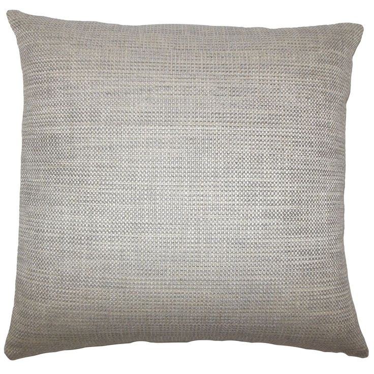 "Daker Weave 22-inch Down Feather Throw Pillow Stone (Grey) (22"" x 22""), Size 22 x 22 (Cotton, Solid Color)"