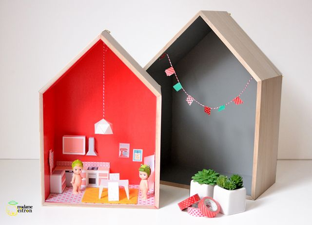 DIY Doll House Tutorial with Free Printable Paper Furniture