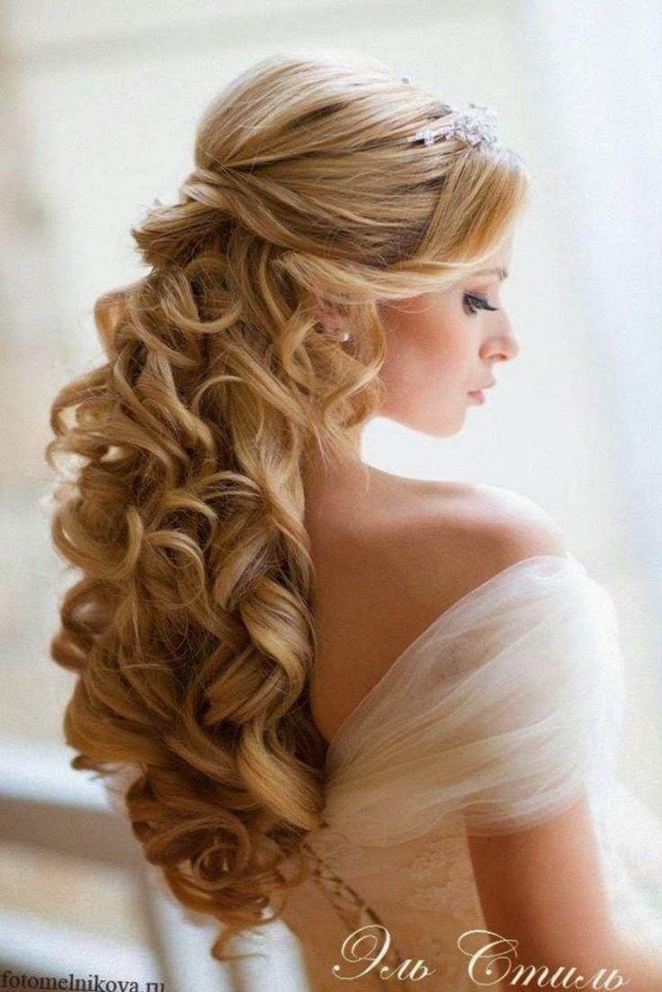 best 25 wedding curls ideas on pinterest wedding hair. Black Bedroom Furniture Sets. Home Design Ideas