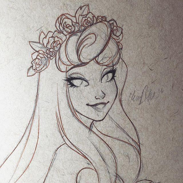 Красивейшие рисунки Дисней Принцесс Hope Hokulani