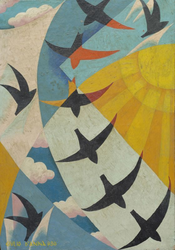 Volo di rondini  (1930) by D'Anna Giulio (Italian 1908-1978)