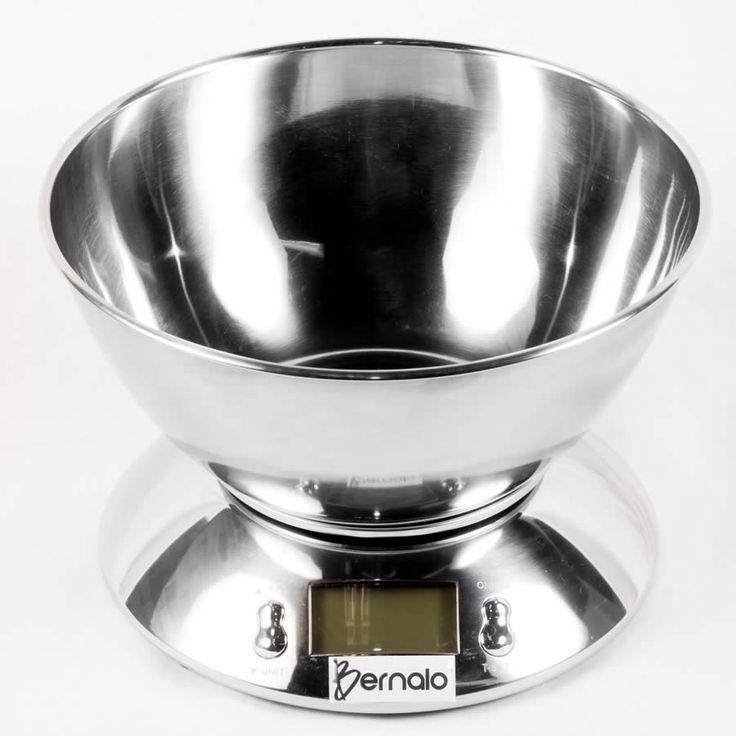 $99.900 Balanza Digital de Cocina con Bowl en Acero Inoxidable y Capacidad de 5Kg y 1.8 l.