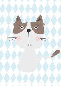 plakaty dzieciece kot