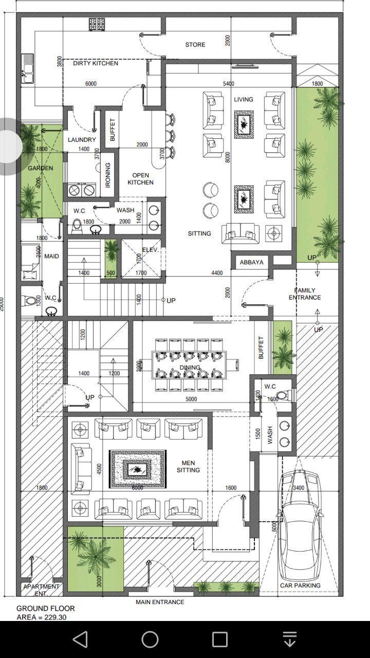 الشكل الخارجي لهذا المخطط | Courtyard house plans ...