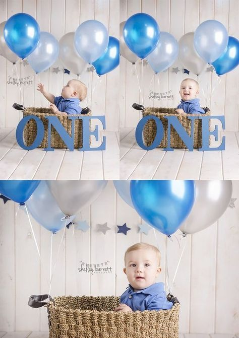 One Year Balloons First Birthday Photography Themes Party Ideas Boy Girl Baby