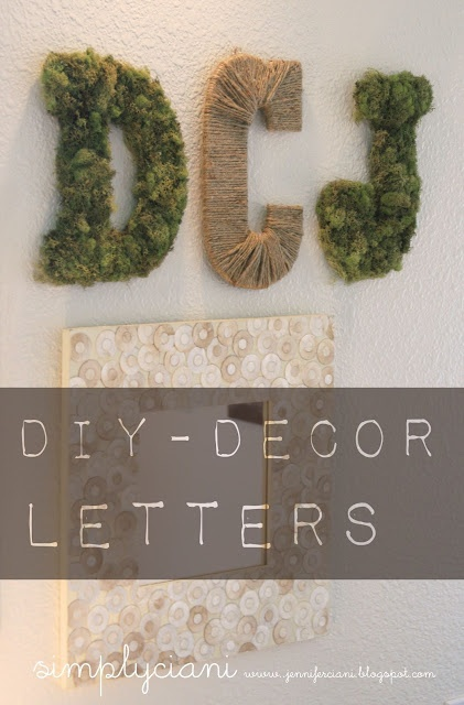 simply ciani diy moss rope letters letters from With moss letters michaels