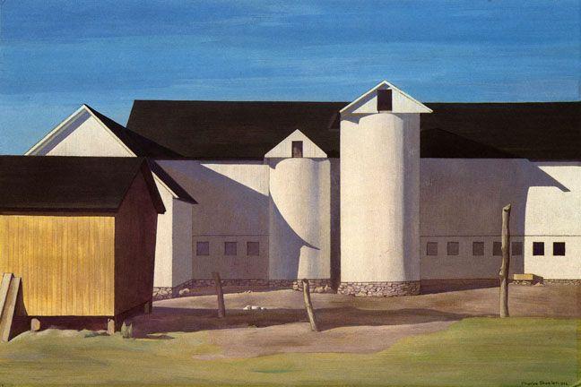 Charles Sheeler - White Sentinels (1942)