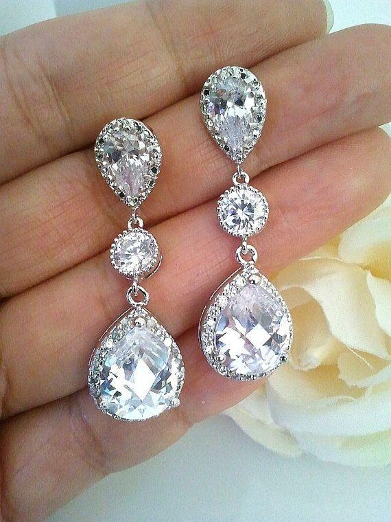 Wedding Jewelry Bridal Earrings  Bridesmaid Gift by LaLaCrystal