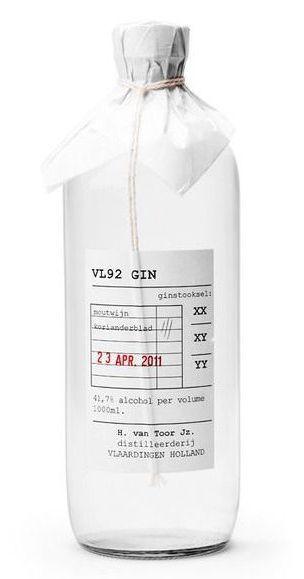 H. Van Toor Jz. Distillery, VL92 Gin   Netherlands