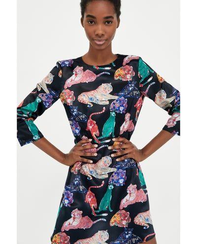 434d2adf TIGER PRINT DRESS-View all-DRESSES-WOMAN   ZARA United States   want ...