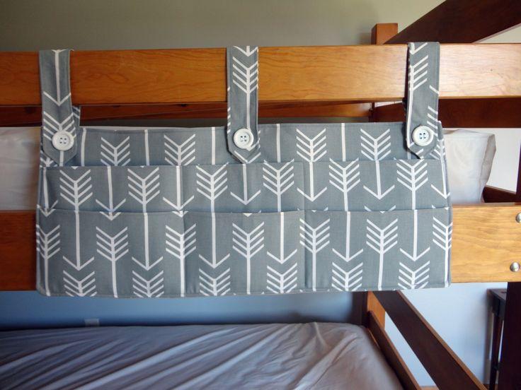 Bunk Bed Pocket Caddy; Dorm Room Organization Pocket Caddy by VermontCottageWorks on Etsy