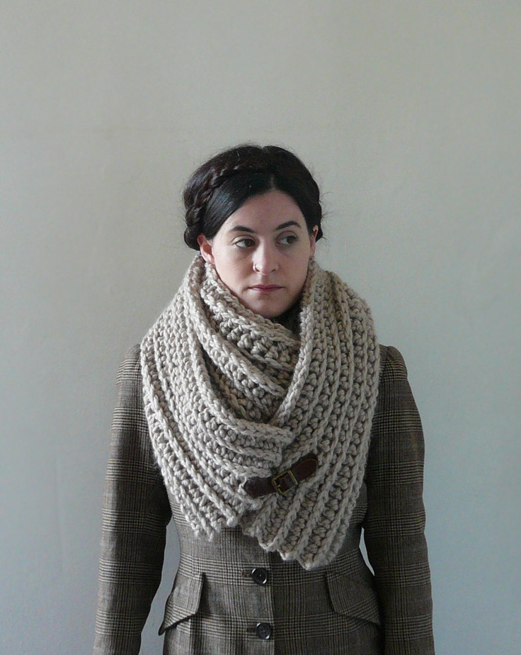 Infinity Cowl, Cowl Scarf, Cowl - The Seamans Knot in Linen. £50.00, via Etsy.