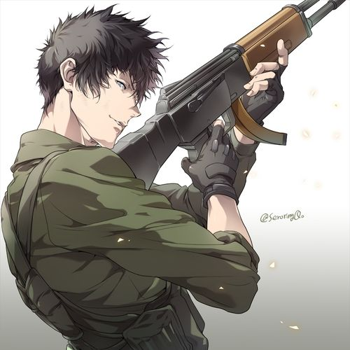 shinya kogami, fanart, and psycho pass image
