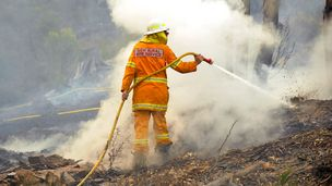 Firefighters are warning of a return to high 30ºC temperatures and dry winds across NSW on Monday.
