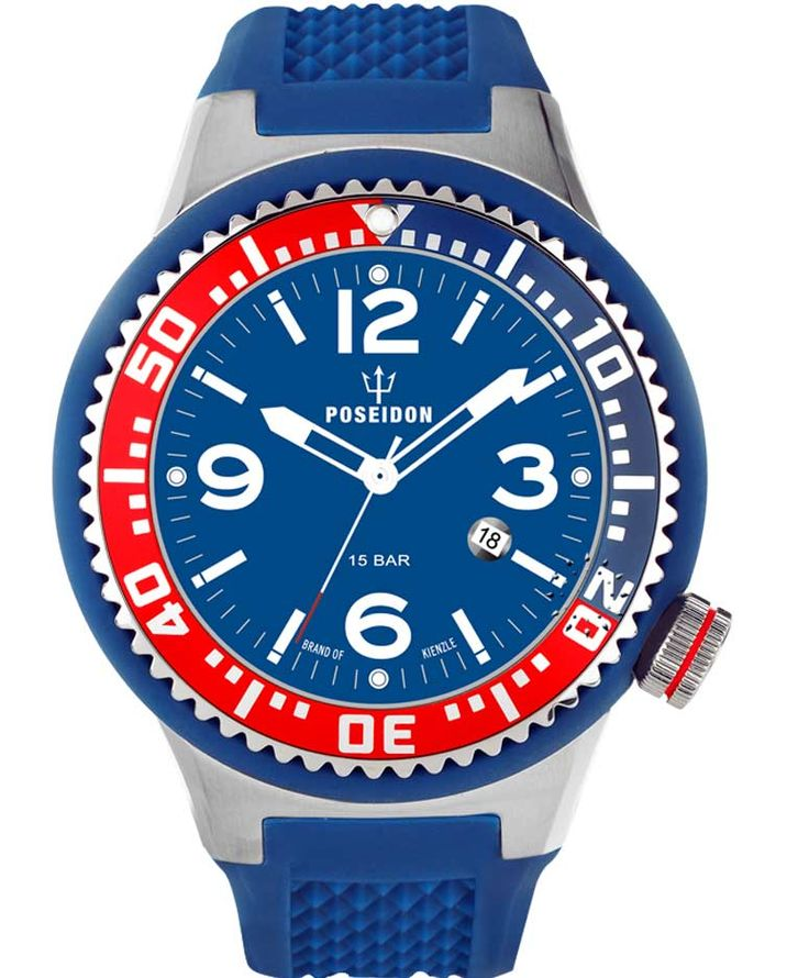 POSEIDON XXL Blue Silicone Strap Τιμή: 119€ http://www.oroloi.gr/product_info.php?products_id=34072