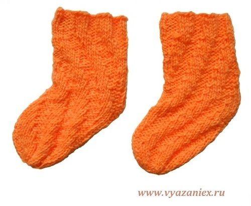 Спиральные носки для ребенка - изделие, связанное спицами