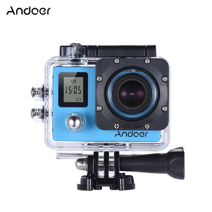 Andoer 4K 30fps 1080P 60fps Full HD 16MP Action Camera Waterproof 30m WiFi