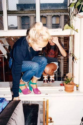 Cute shoes, cuter people: Jen Brill and Olivia Kim for Cole Haan.