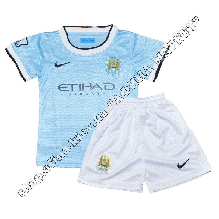 Детская футбольная форма Manchester City Nike домашняя | Купить футбольную форму для детей Манчестер Сити 2013-2014