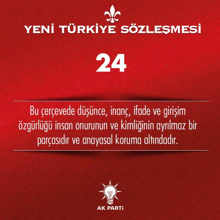 24.Madde, #YeniTürkiyeSözleşmesi