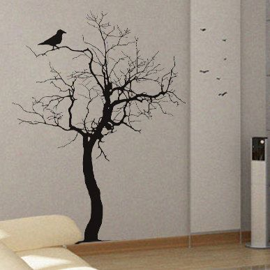 Bare Tree 2 - uBer Decals Wall Decal Vinyl Decor Art Sticker Removable Mural Modern A251