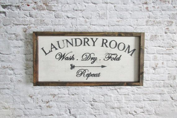 Laundry Room Sign. Wood signs. Wooden sign. by WilliamRaeDesigns