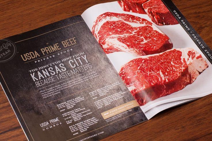 The Kansas City Steak Co. - catalog design by J.Schmid