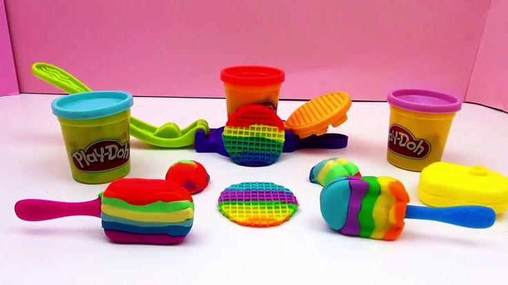 Play Doh français DIY Glaces et gaufres arc en ciel rainbow ice cram maker Scoops NTreats