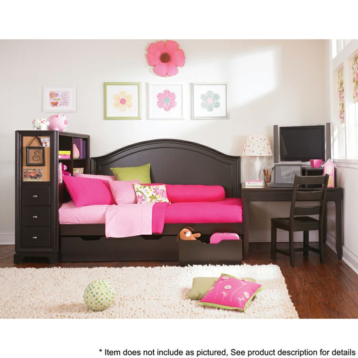 Lea Furniture Midtown Full Daybed 5 Piece Bedroom Package With Underbed Storage