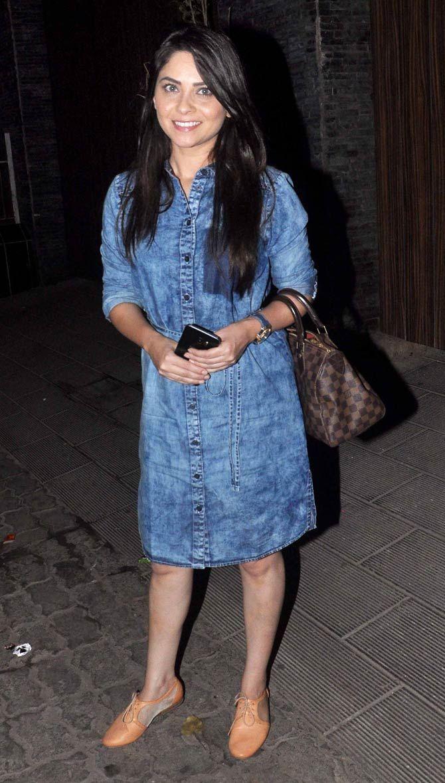Sonalee Kulkarni at Aamir Khan's bash. #Bollywood #Fashion #Style #Beauty #Hot #Marathi