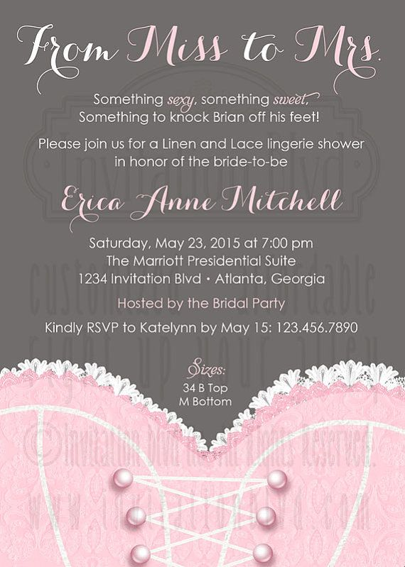 Bridal Shower Invitation Lingerie Shower by InvitationBlvd