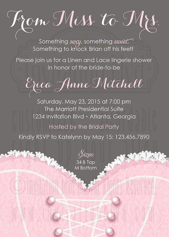 Bridal Shower Invitation Lingerie Shower by InvitationBlvd