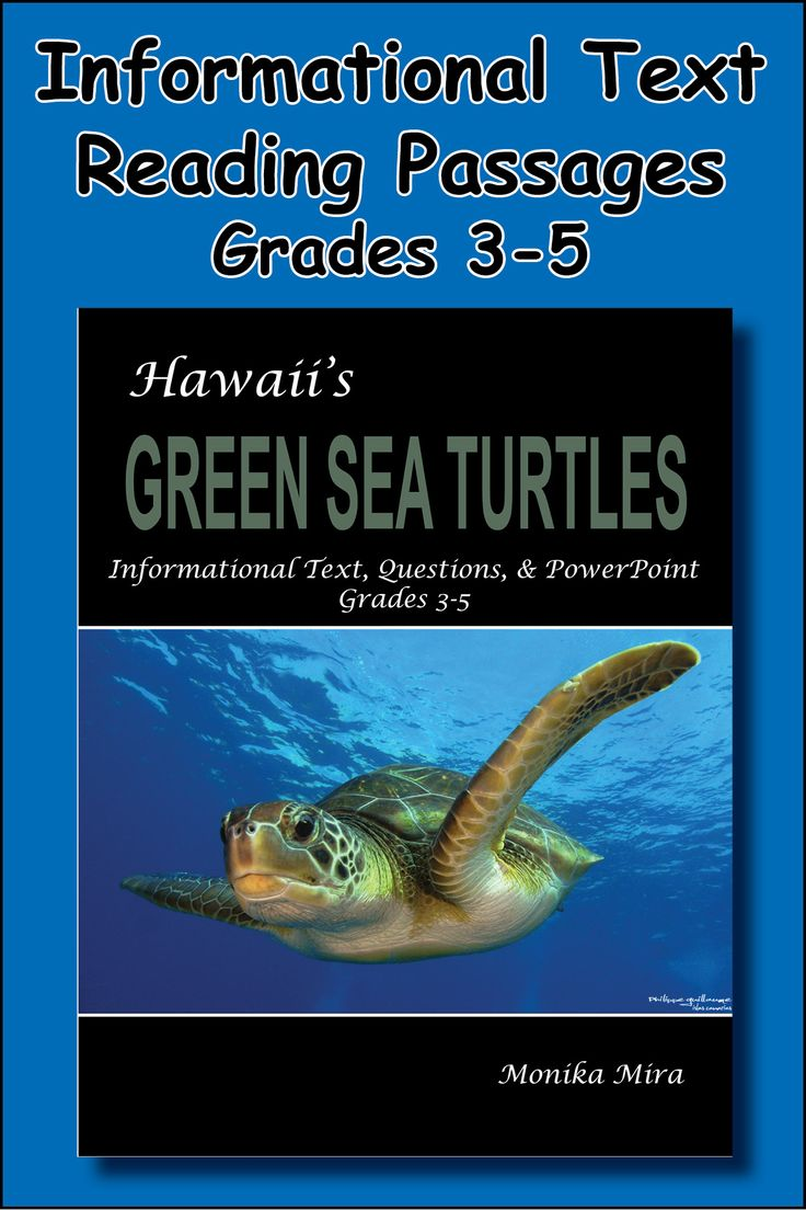 Hawaii's Green Sea Turtles Common Core Informational Text Reading Passages & powerpoint, with questions