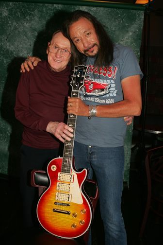Ace Frehley and Les Paul