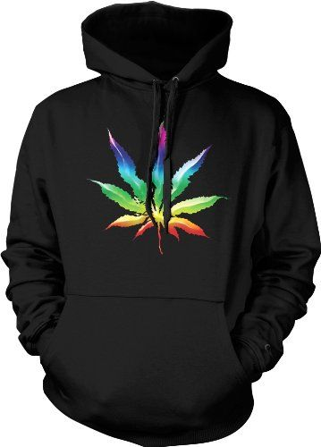 Amazon.com: Psychedelic Rainbow Pot Leaf Mens Sweatshirt, Funny Trendy Hot Weed Smoking Mens Pullover Hoodie: Clothing