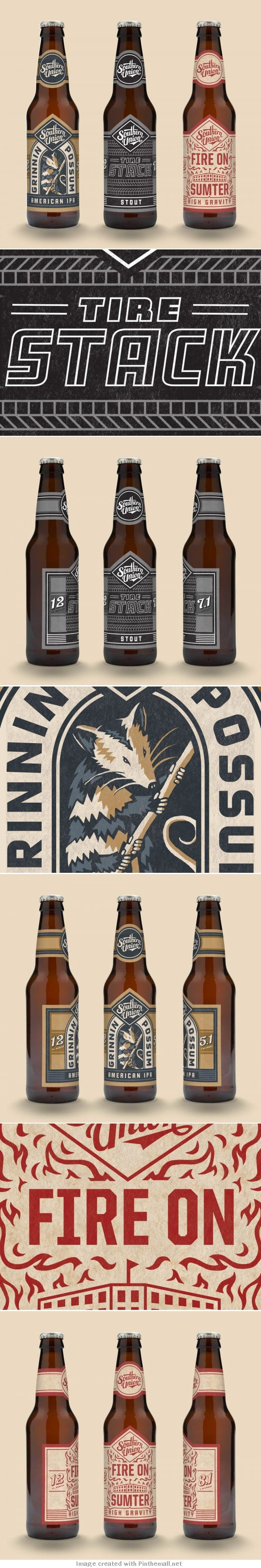 These illustrations are effective due to limited colour palette enhanced by the simple illustration. The simple illustration and colour use causes the labels to stand out due to having a bold nature, drawing in the target audience. The typeface used for the company's name brings to the label the 'southern hospitality' feel which the company aimed to evoke through the presentation of the their beer.
