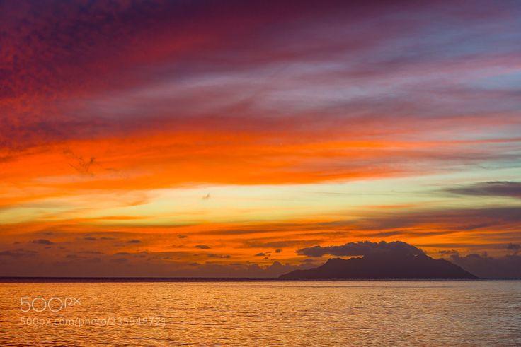 Beau Vallon dusk Seychelles by alniks