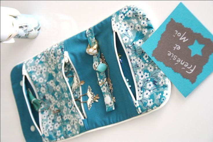 Pochette à bijoux / Mitsi menthe à l'eau / DIY / tuto / blog Frénésie et moi