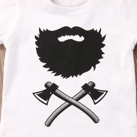 LumberJack Beard and Axes Baby Set