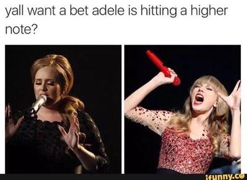 Adele, funny, and singers image. Well do ya?