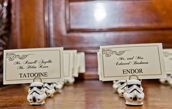 Idées déco pour un mariage 100% Star Wars. Que la force soit avec vous !