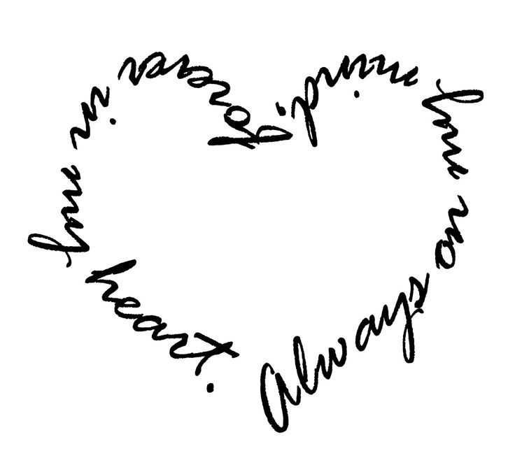 Always on my mind forever in my heart tattoos pinterest quotes - Always In My Heart Tattoos Always On My Mind Forever In
