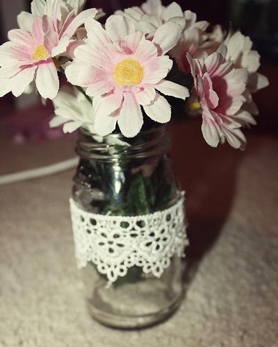 Doily Jar DIYs